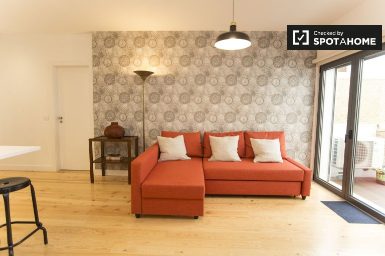 Appartamento con 1 camera da letto in affitto ad Ajuda, Lisbona