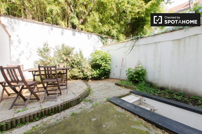 Charming 1-bedroom apartment for rent with garden in Ixelles