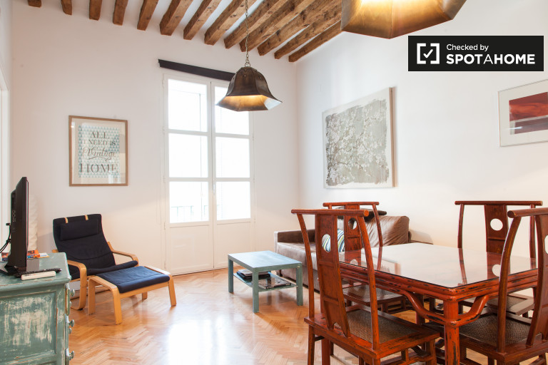 Fully furnished 2-bedroom apartment for rent in Madrid City Centre