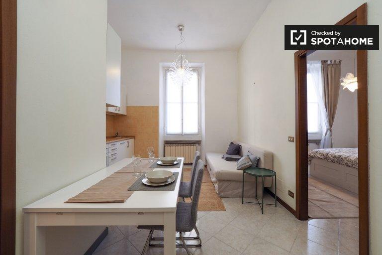 Apartamento amueblado de 1 dormitorio en alquiler en Turro, Milán