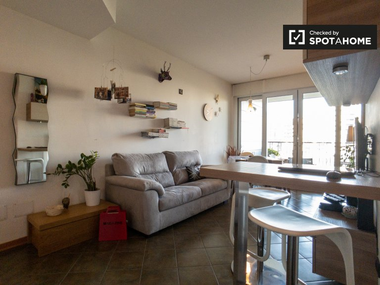 Modern apartment with 1 bedroom for rent in Quartiere Adrian
