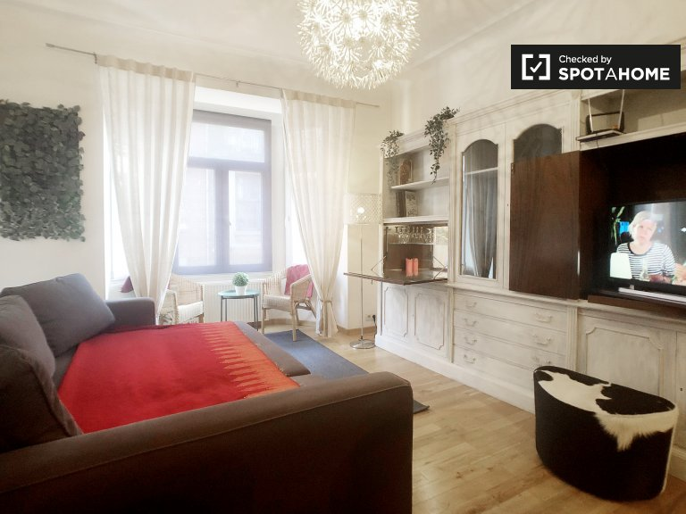 Chic 1-bedroom apartment for rent in Saint Gilles, Brussels