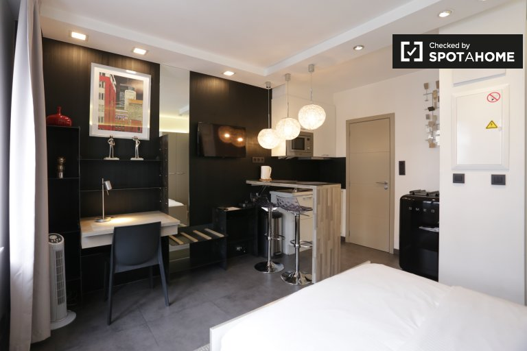 Functional studio apartment for rent in Brussels City Centre