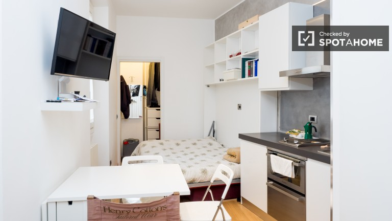 Renovated studio apartment with AC for rent - Magenta, Milan