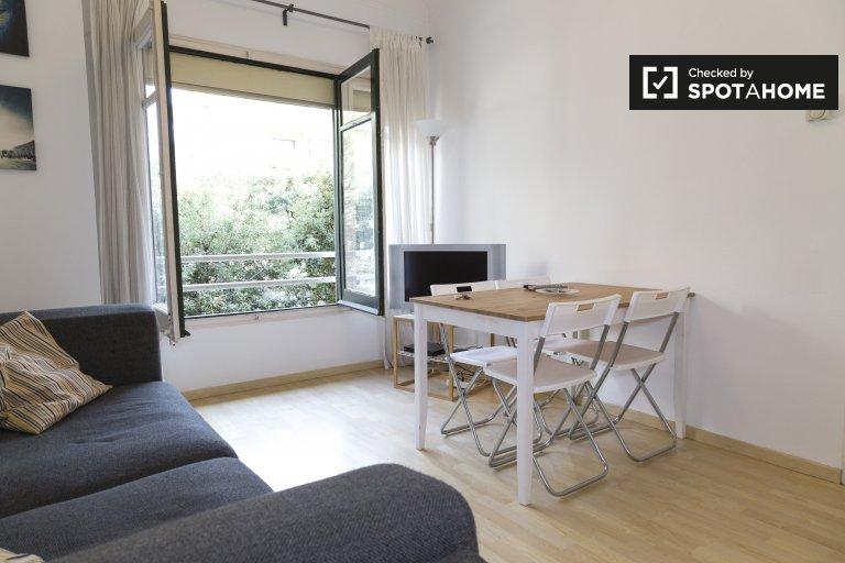 Słoneczny, 3-pokojowy apartament do wynajęcia w Gràcia, Barcelona