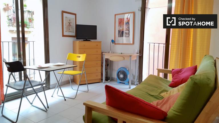 Przytulne 1-pokojowe mieszkanie do wynajęcia w El Raval, Barcelona