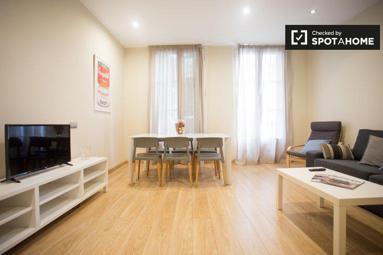 Elegante apartamento de 3 quartos para alugar em El Born, Barcelona