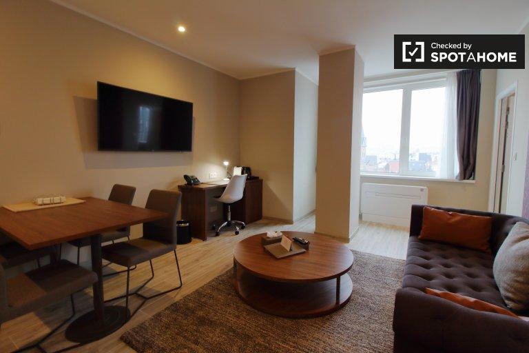 Ciche mieszkanie z 1 sypialnią do wynajęcia w centrum Brukseli