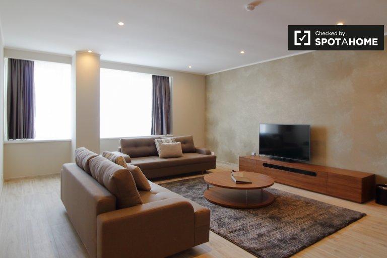 Apartamento moderno de 2 quartos para alugar no centro da cidade de Bruxelas