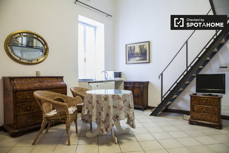 Quaint studio apartment for rent in Centro Storico, Rome