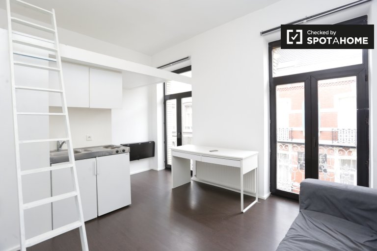 Modern studio apartment for rent in Brussels City Center