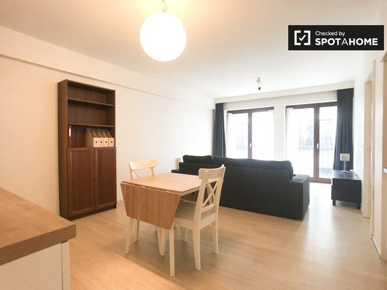 Elegante apartamento de 1 dormitorio en alquiler en Schaerbeek, Bruselas