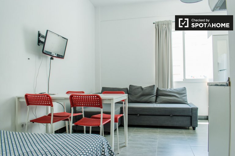 Bright studio apartment for rent, L'Olivereta