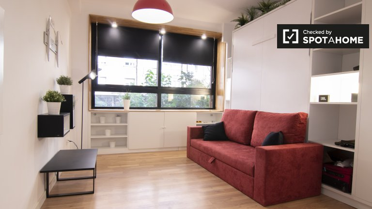 Madrid Rio, Madrid'de kiralık şık stüdyo daire