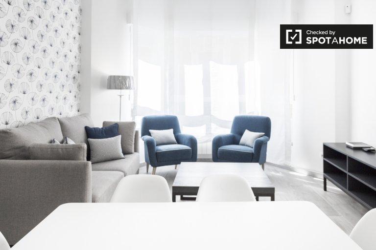 Modern 3-bedroom apartment for rent, Cuatro Caminos, Madrid