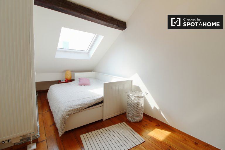 Room to rent in comfy 2-bedroom apartment, Brussels Center