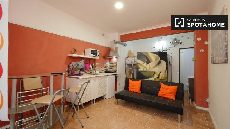 Spacious studio apartment for rent in Nou Barris, Barcelona