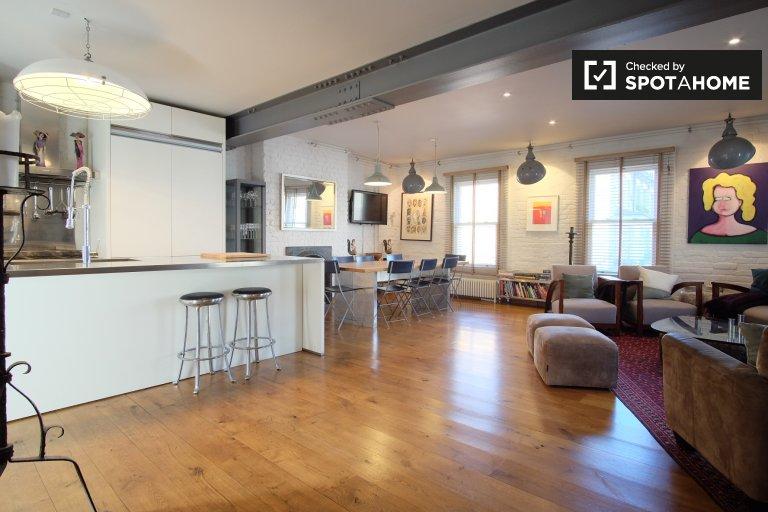Elegante apartamento de 3 quartos para alugar em Lambeth, Londres.