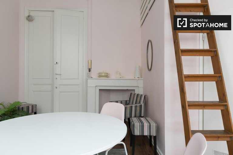 Charming studio apartment for rent in Ixelles, Brussels