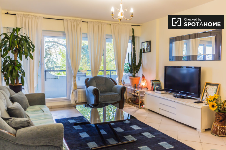 Bright and spacious 3-bedroom apartment with huge balconies for rent in Champvert