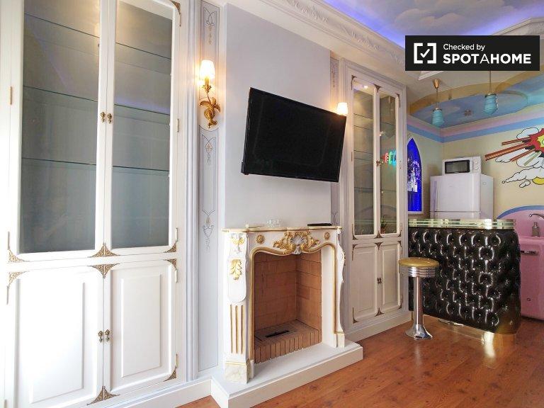 Funky apartamento de 1 dormitorio en alquiler en Malasaña, Madrid