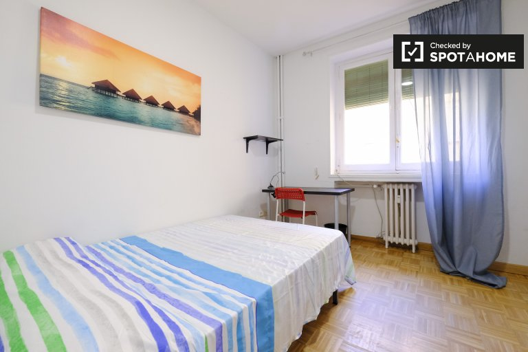 Cute room for rent in 4-bedroom apartment, La Latina, Madrid