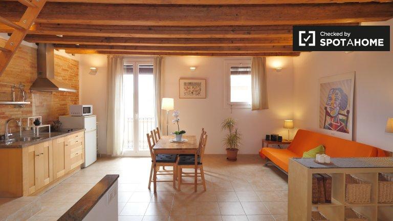 Super apartament typu studio do wynajęcia w El Raval, Barcelona