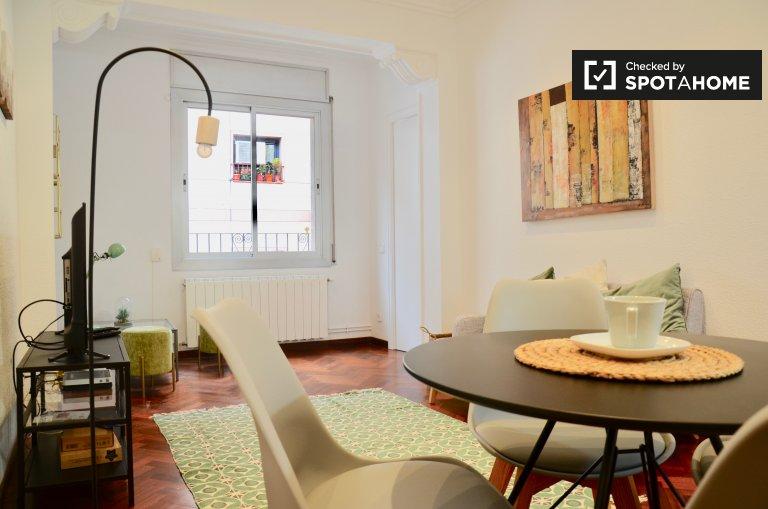 Schöne 3-Zimmer-Wohnung zur Miete in Barcelona.