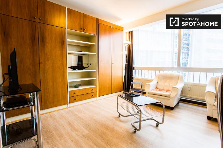Soleado apartamento de 1 dormitorio en alquiler en Ixelles, Bruselas