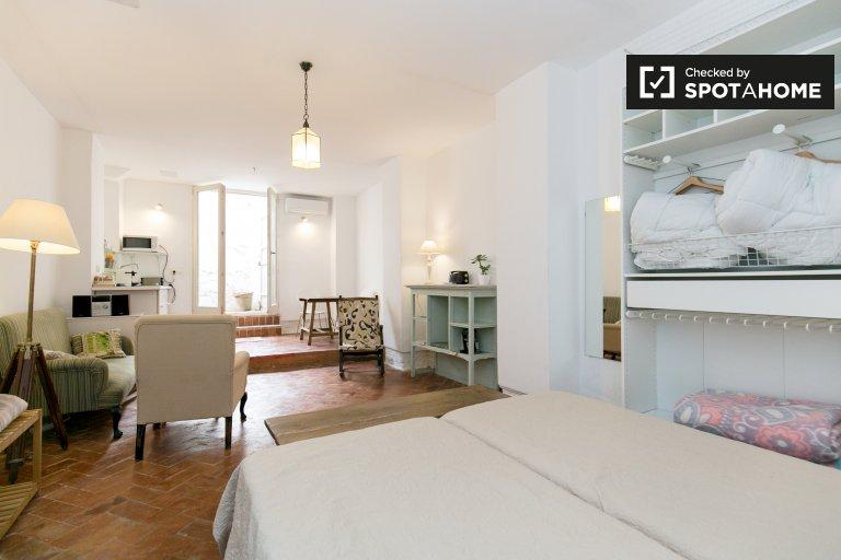 Spacious studio apartment for rent in Realejo, Granada