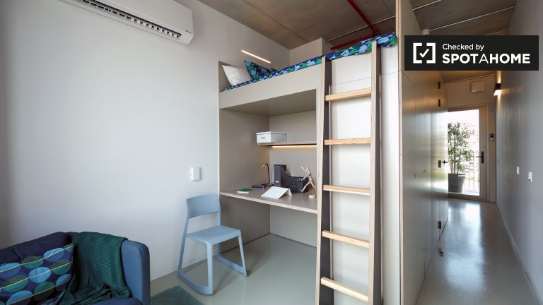 Modernes Studio-Apartment zur Miete in Poblenou, Barcelona