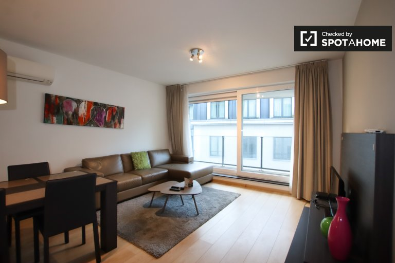 Roomy 1-bedroom apartment for rent in Brussels city center