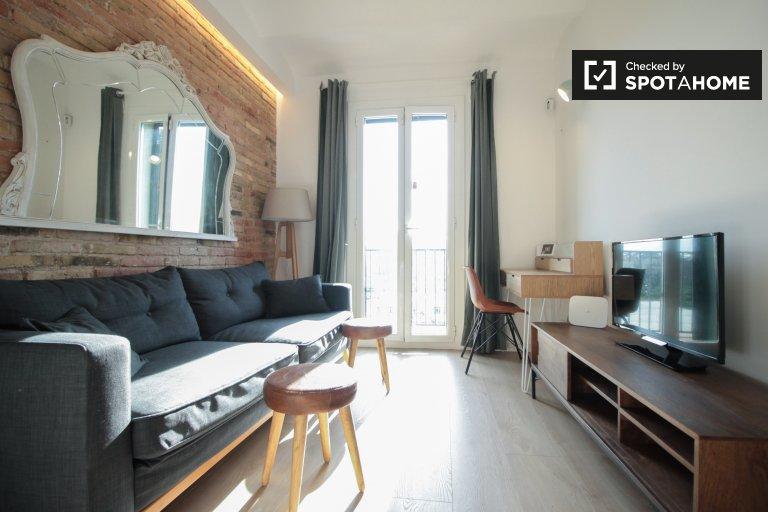 1-pokojowe mieszkanie do wynajęcia w Eixample, Barcelona