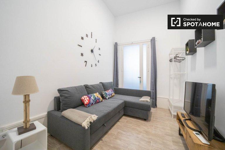 Lindo apartamento de 1 quarto para alugar em Lavapiés, Madrid