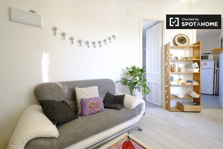Helle 1-Zimmer-Wohnung zur Miete in Centro, Madrid