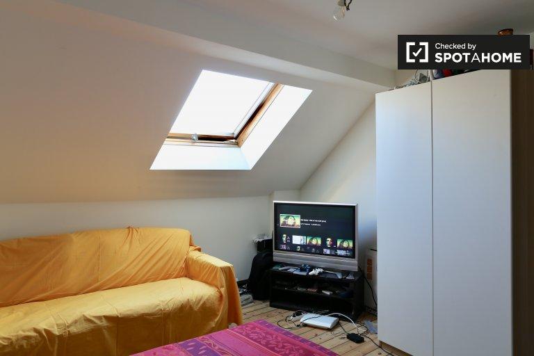 Chambre double à louer dans un appartement de 6 chambres près du centre de Bruxelles