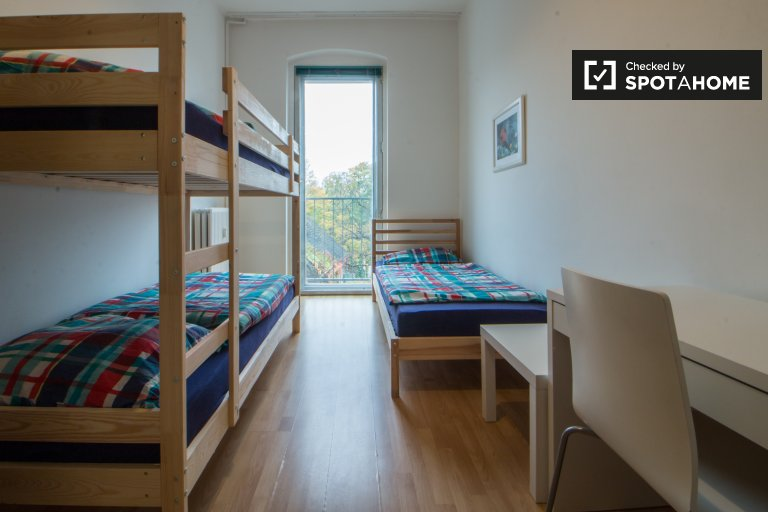 Twin Beds in Beds for rent in modern 2-bedroom apartment in Neukölln