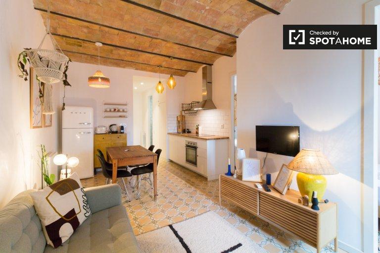 Poble-san, Barcelona kiralık 2 odalı daire