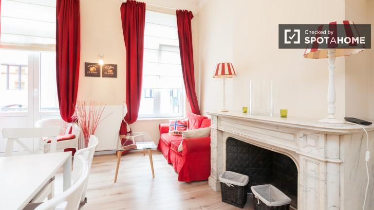 Jasne 1-pokojowe mieszkanie do wynajęcia w Brukseli UE, Bruksela