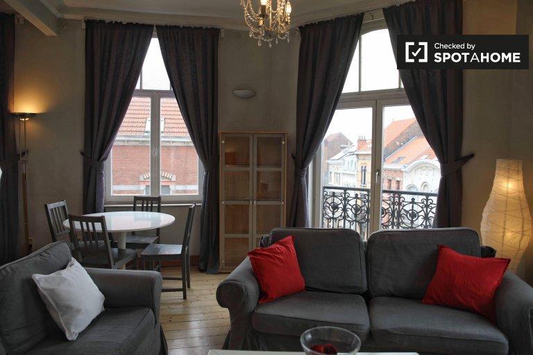 1-pokojowe mieszkanie do wynajęcia w Schaerbeek, Bruksela