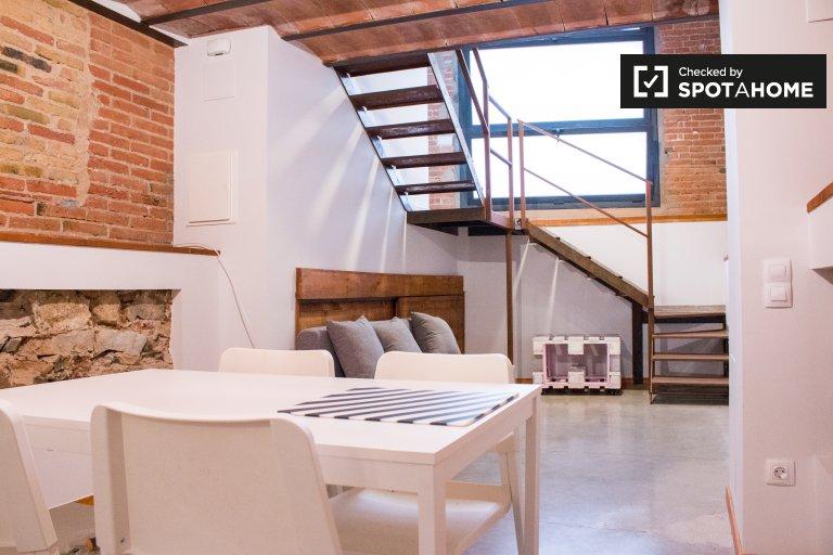 Rustic studio apartment for rent in Sants, Barcelona