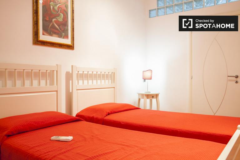 Chambre meublée dans un appartement à Trastevere, Rome