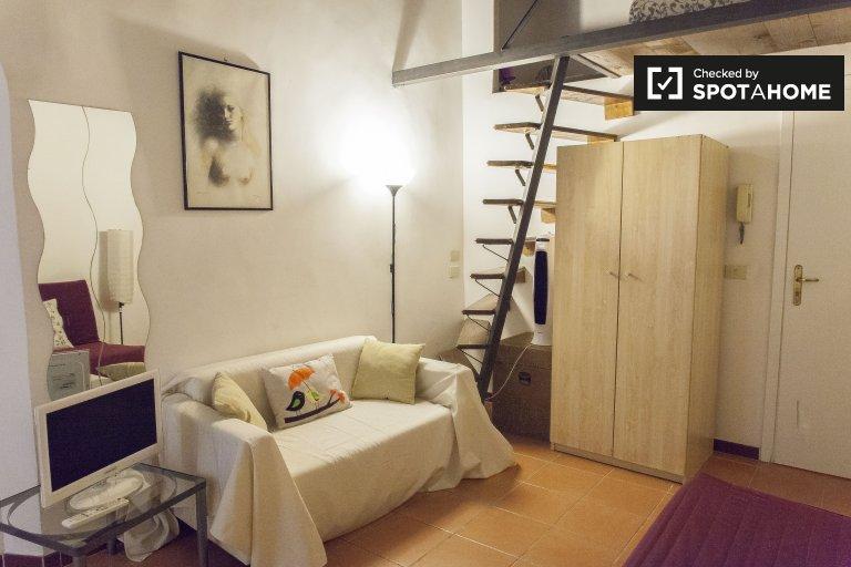 Trastevere, Roma'da kiralık şirin stüdyo