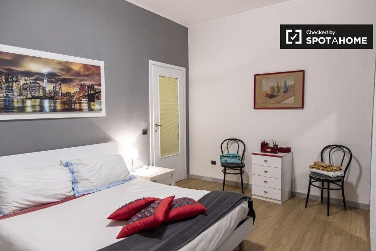 Quarto de casal para alugar, apartamento de 2 quartos, Roma