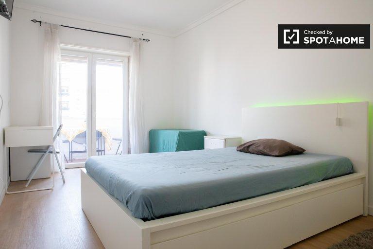 Quarto encantador para alugar em Alvalade, Lisboa