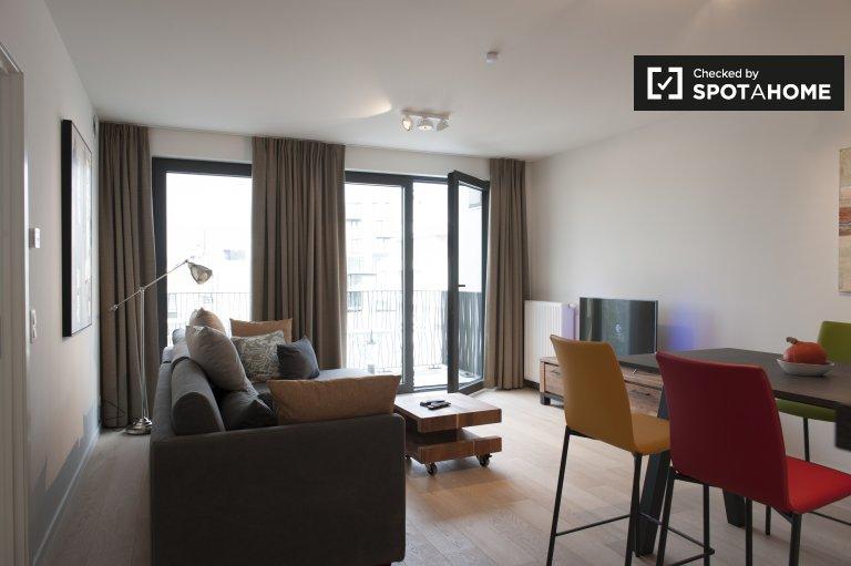 Brüksel şehir merkezinde kiralık 3 odalı modern daire