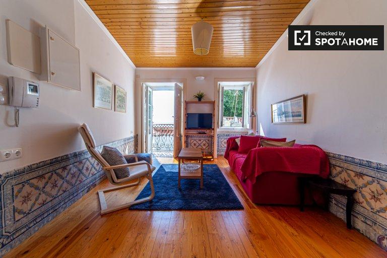 1-pokojowe mieszkanie do wynajęcia w Alfama, Lizbona