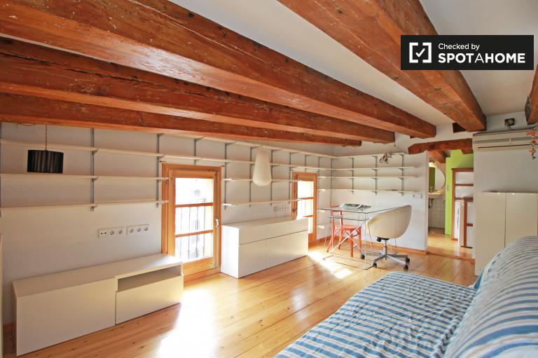 Uroczy apartament typu studio do wynajęcia w El Born, Barcelona