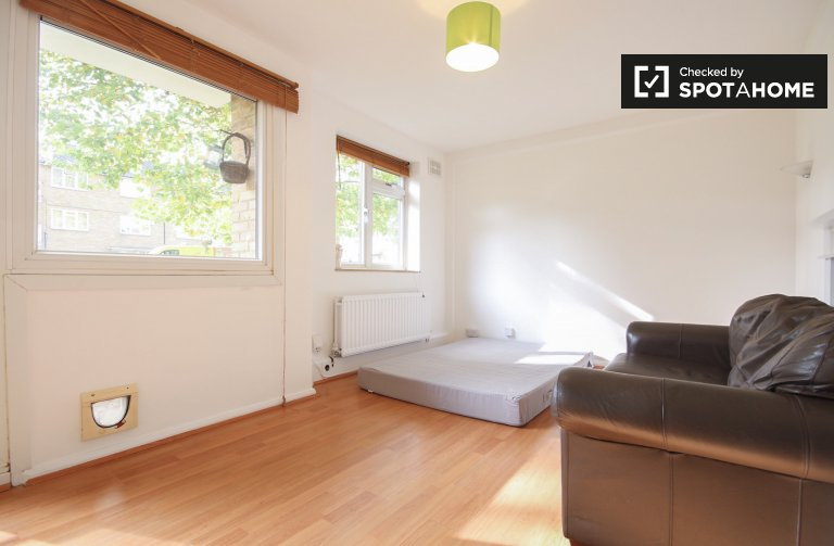 Double Bed in Spacious rooms for rent in 2-bedroom apartment in Chiswick