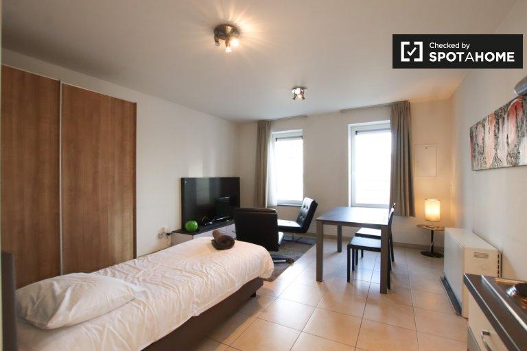 Studio apartment for rent in Quartier des Quais, Brussels